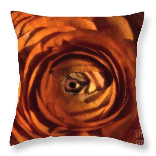 Eye Throw Pillow featuring the photograph Eye Of The Bloom by Mike Nellums