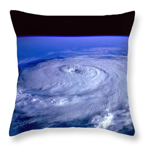 Hurricane Throw Pillow featuring the photograph Eye Of The Hurricane by Mountain Dreams