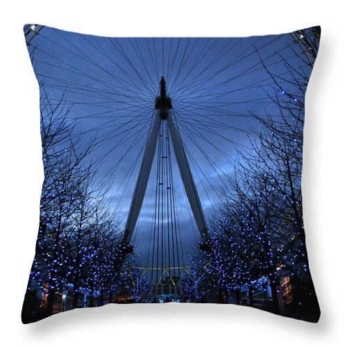 London Throw Pillow featuring the photograph Eye Of The Storm by David Rucker