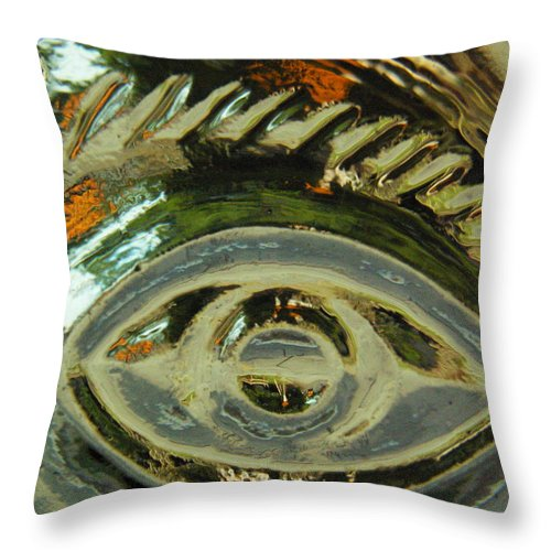 Captivus Brevis Throw Pillow featuring the photograph ...eye See... by Charles Struse Sr