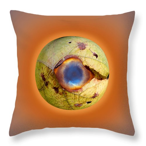 Eyeball Throw Pillow featuring the digital art Eye See You by Steve Herndon