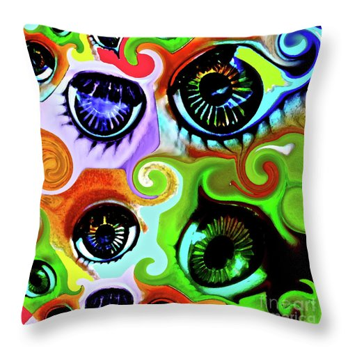 Eye Throw Pillow featuring the photograph Eyecandy by Gwyn Newcombe