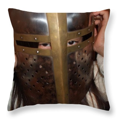 Eyes Throw Pillow featuring the photograph Eyes Of The Samurai by James Potts