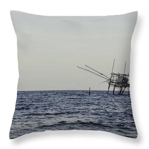 Landscape Throw Pillow featuring the photograph Eyes Of Time by Andrea Mazzocchetti