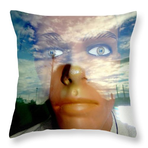 Mannequins Throw Pillow featuring the photograph Eyes On The Horizon by Ed Weidman