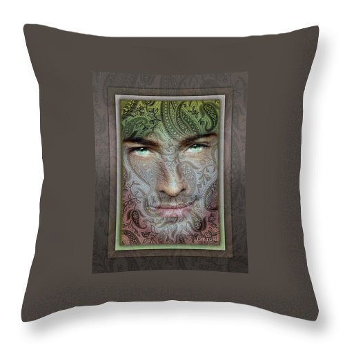 Portrait Throw Pillow featuring the photograph Eyes by Richard Laeton