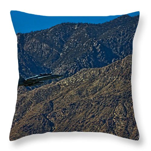Boeing F/a-18e/f Super Hornet Throw Pillow featuring the photograph F-18 Super Hornet by Tommy Anderson