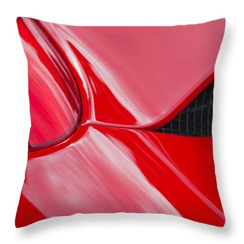 Ferrari Throw Pillow featuring the mixed media F458 by Maj Seda