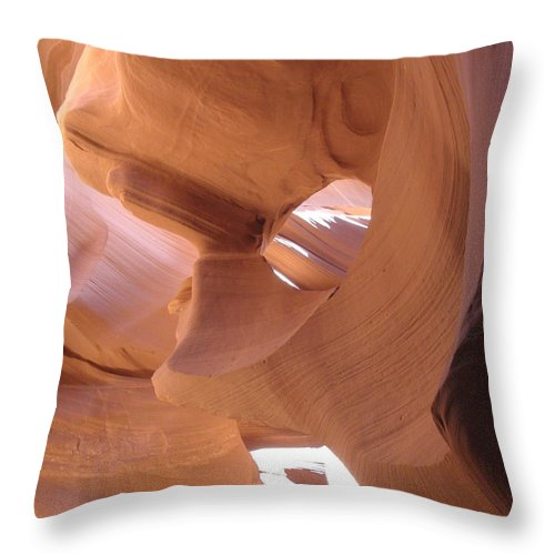 Narrow Canyon Throw Pillow featuring the photograph Face In The Stone by Christiane Schulze Art And Photography