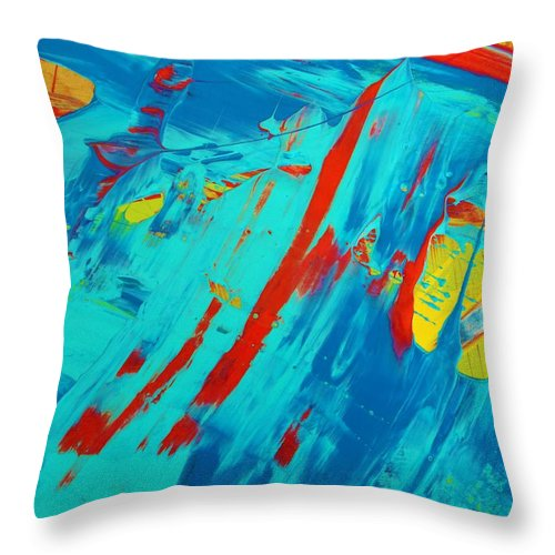 Original Throw Pillow featuring the painting Face Less by Artist Ai