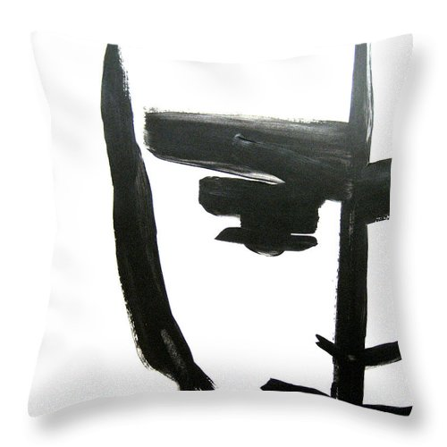 Art Throw Pillow featuring the painting Faces Of Sky 12 by Anna Elkins