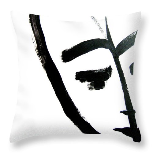 Art Throw Pillow featuring the painting Faces Of Sky 25 by Anna Elkins