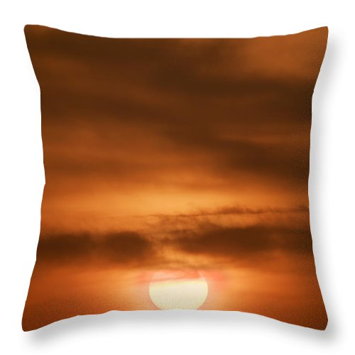 Sunrise Throw Pillow featuring the photograph Facing My Day by Kevin Eatinger