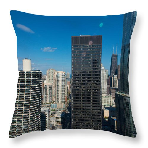 Downtown Throw Pillow featuring the photograph Facing The Giants by Kevin Eatinger