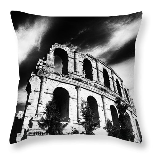 Architectur Throw Pillow featuring the painting Facing Time by Dhouib Skander