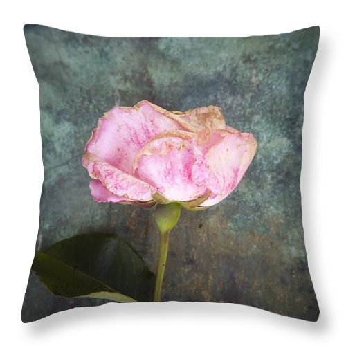 Abstract Throw Pillow featuring the photograph Faded Beauty by Maria Heyens
