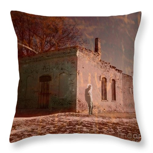 Storytellers Throw Pillow featuring the painting Faded Memories by Desiree Paquette