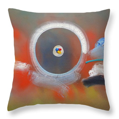 Cyclone Throw Pillow featuring the painting Fairground by Charles Stuart
