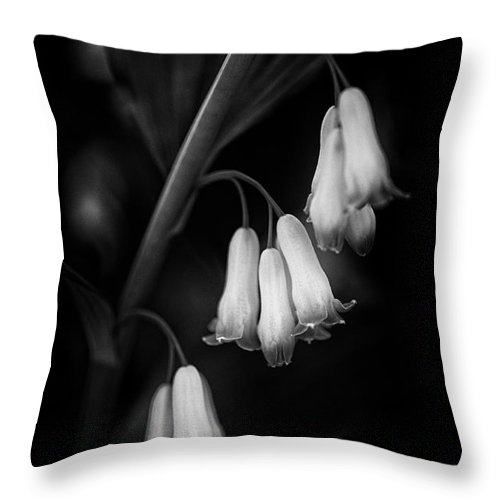 Beauty In Nature Throw Pillow featuring the photograph Fairy Bells by Venetta Archer