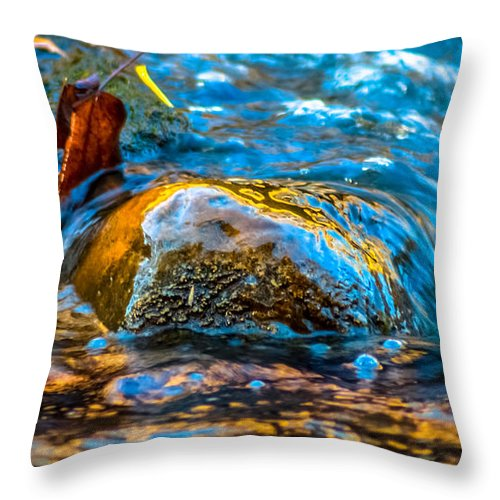Optical Playground By Mp Ray Throw Pillow featuring the photograph Fairy Tale Waters by Optical Playground By MP Ray