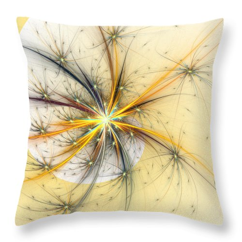 Wish Throw Pillow featuring the digital art Fairy Wishes by Kiki Art