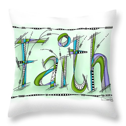 Faith Throw Pillow featuring the digital art Faith by Debi Payne