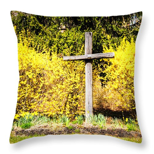 Bob And Nancy Kendrick Throw Pillow featuring the photograph Faith In Spring by Bob and Nancy Kendrick