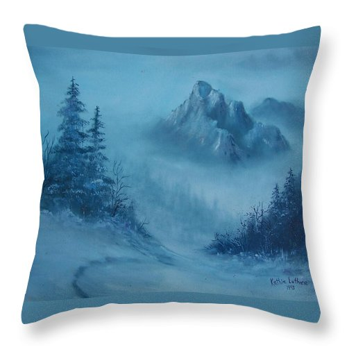Faith Throw Pillow featuring the painting Faith Moves Mountains by Kathleen Luther