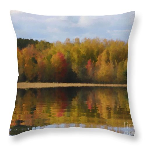 Fall Throw Pillow featuring the painting Fall by Bill Richards