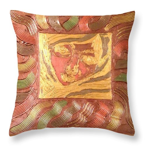 Face Throw Pillow featuring the painting Fall Breeze by Jana Ford