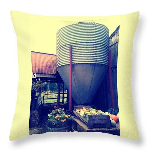 Farm Throw Pillow featuring the photograph Fall City Farm by Barbara Christensen