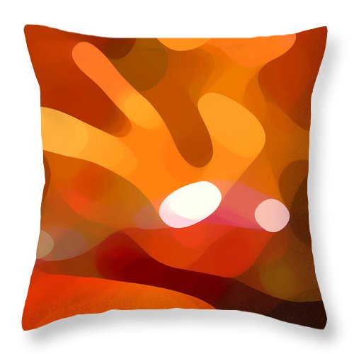 Abstract Throw Pillow featuring the painting Fall Day by Amy Vangsgard