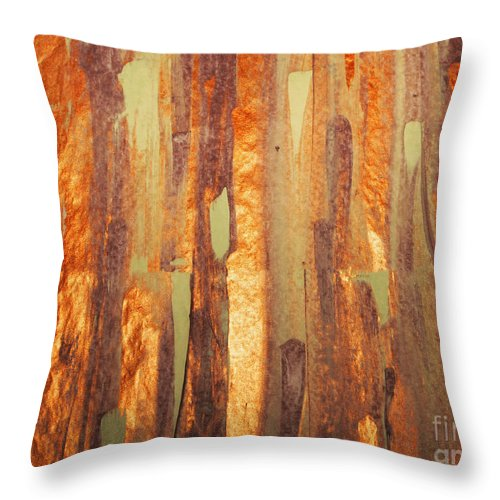 Acrylic On Paper Throw Pillow featuring the mixed media Fall Day by Jacklyn Duryea Fraizer
