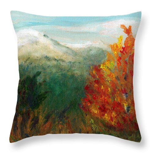 C Sitton Paintings Throw Pillow featuring the painting Fall Day Too by C Sitton