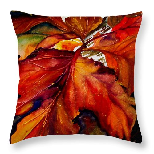 Autumn Throw Pillow featuring the painting Autumn Dressage by Lil Taylor