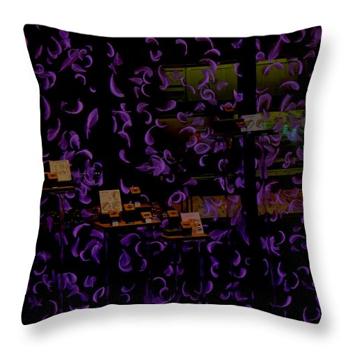 Fall Throw Pillow featuring the pyrography Fall by Kayla Benjamin