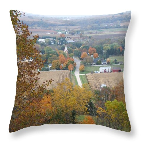 Nature Throw Pillow featuring the photograph Fall Overlook by Minding My Visions by Adri and Ray