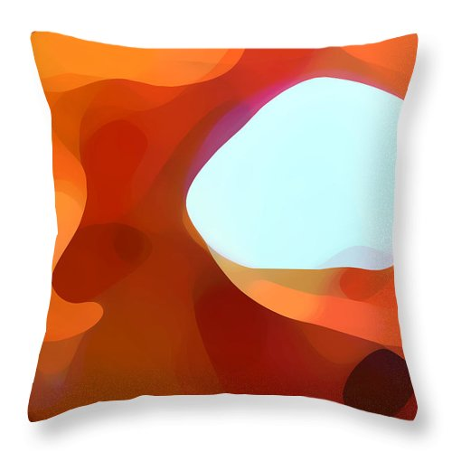 Abstract Throw Pillow featuring the painting Fall Passage by Amy Vangsgard