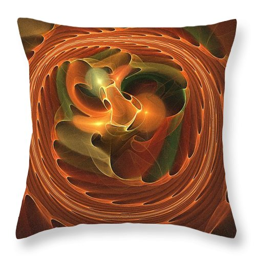 Fall Throw Pillow featuring the digital art Fall Round Up by Doug Morgan