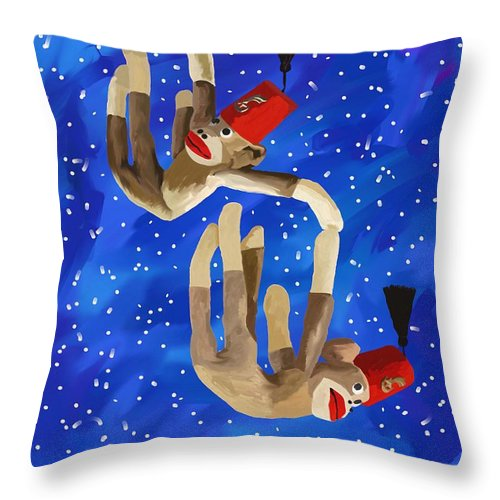Blue Skies Throw Pillow featuring the photograph Falling by Eddy L Barrows