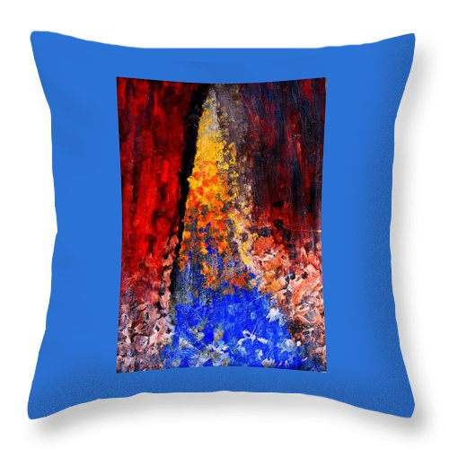 Abstract Throw Pillow featuring the painting Falling by Ian MacDonald