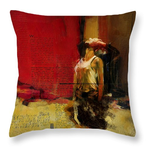 Women Throw Pillow featuring the painting Falling In Love by Corporate Art Task Force