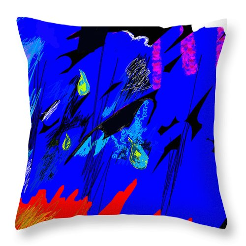 Abstract Throw Pillow featuring the digital art Falling Through Lightness by Paul Sutcliffe