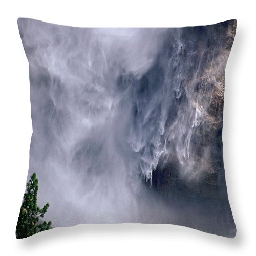 Waterfall Throw Pillow featuring the photograph Falling Water by Kathy McClure