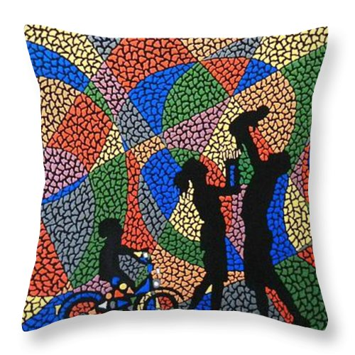 Love Throw Pillow featuring the painting Family I by Kruti Shah