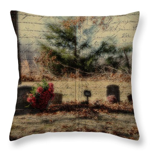Family Throw Pillow featuring the photograph Family Plot Orton Style by Kathy Clark