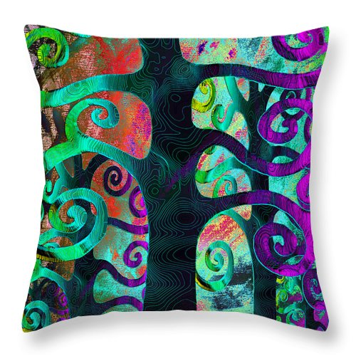 Family Throw Pillow featuring the digital art Family Struggle 3 by Angelina Vick