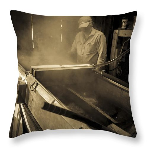 Maple Throw Pillow featuring the photograph Family Tradition by Edward Fielding