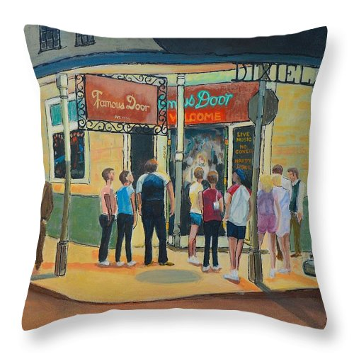 New Orleans Throw Pillow featuring the painting Famous Door New Orleans by Brian Stone  sc 1 st  Fine Art America & Famous Door New Orleans Throw Pillow for Sale by Brian Stone