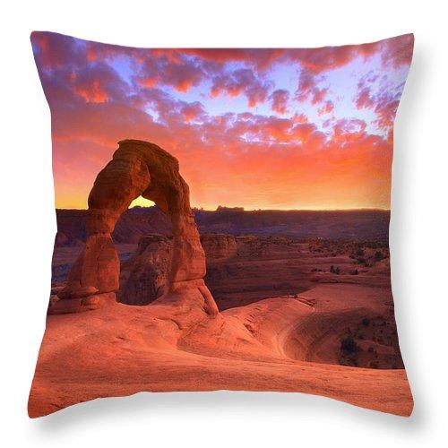 America Throw Pillow featuring the photograph Famous Sunset by Kadek Susanto